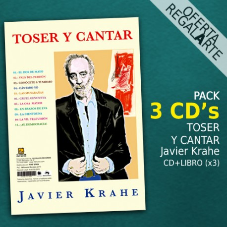 Toser y cantar JAVIER KRAHE Pack 3 CD